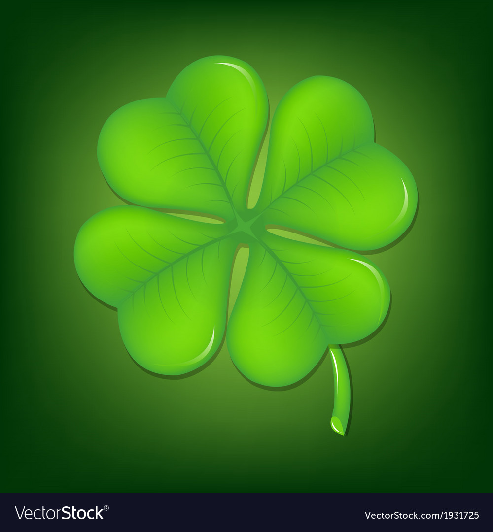 Green clover vector | Price: 1 Credit (USD $1)