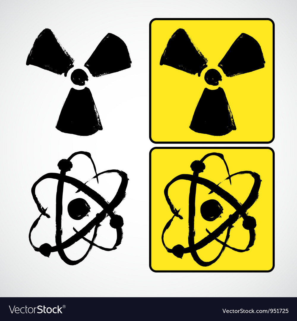 Grunge radioactive symbol vector | Price: 1 Credit (USD $1)