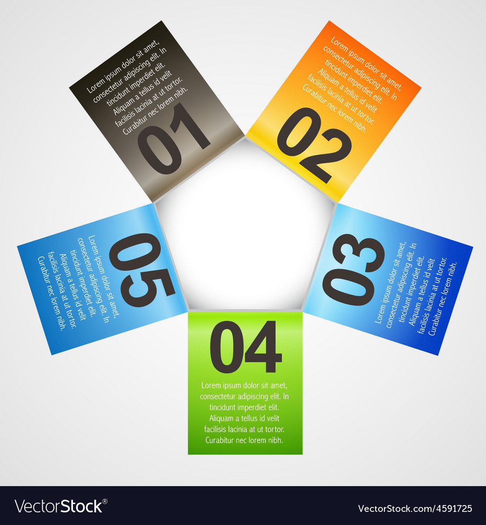 Infographic template in different colors vector   Price: 1 Credit (USD $1)