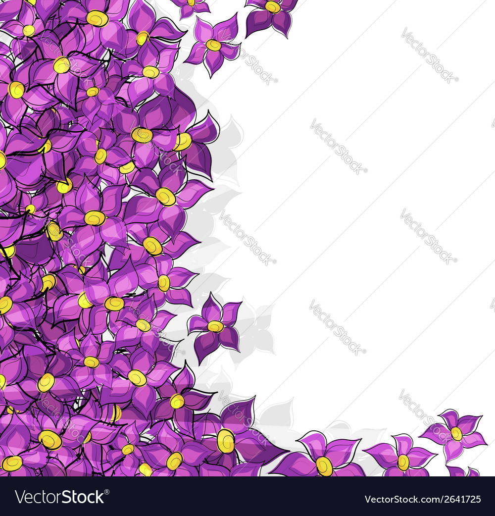 Lilac flowers background vector | Price: 1 Credit (USD $1)