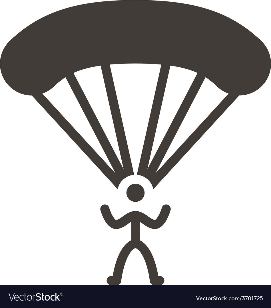 Parachute sport icon vector | Price: 1 Credit (USD $1)