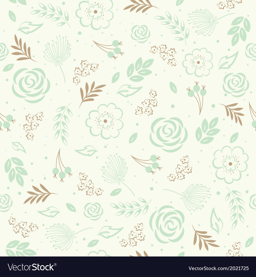 Seamless floral green vector | Price: 1 Credit (USD $1)