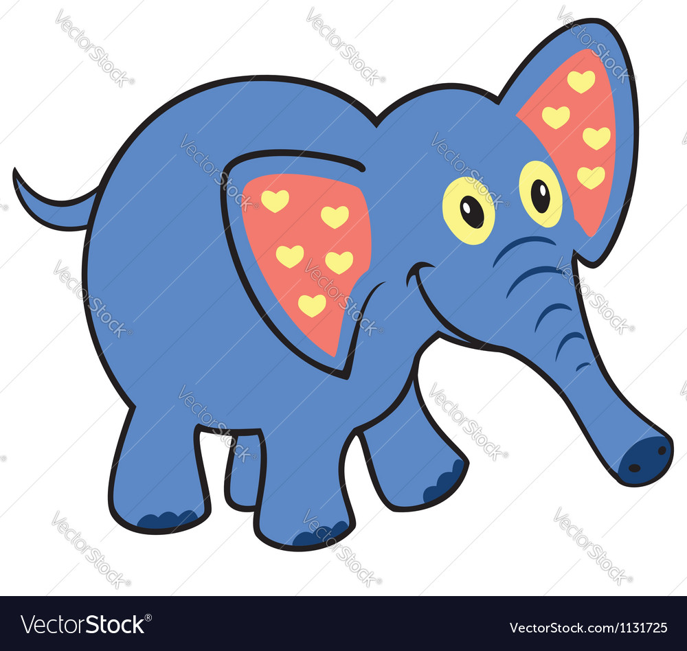 Simple childish elephant vector | Price: 1 Credit (USD $1)