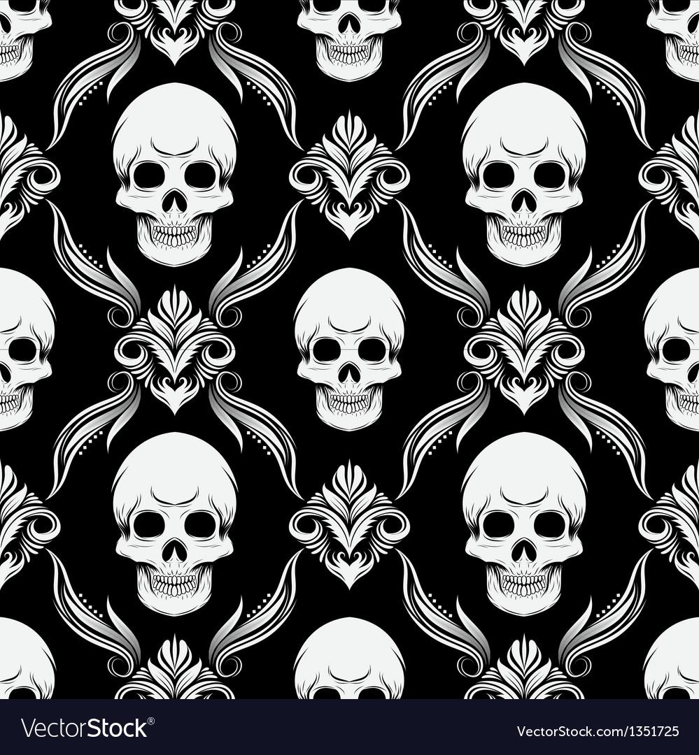 Skull pattern vector   Price: 1 Credit (USD $1)