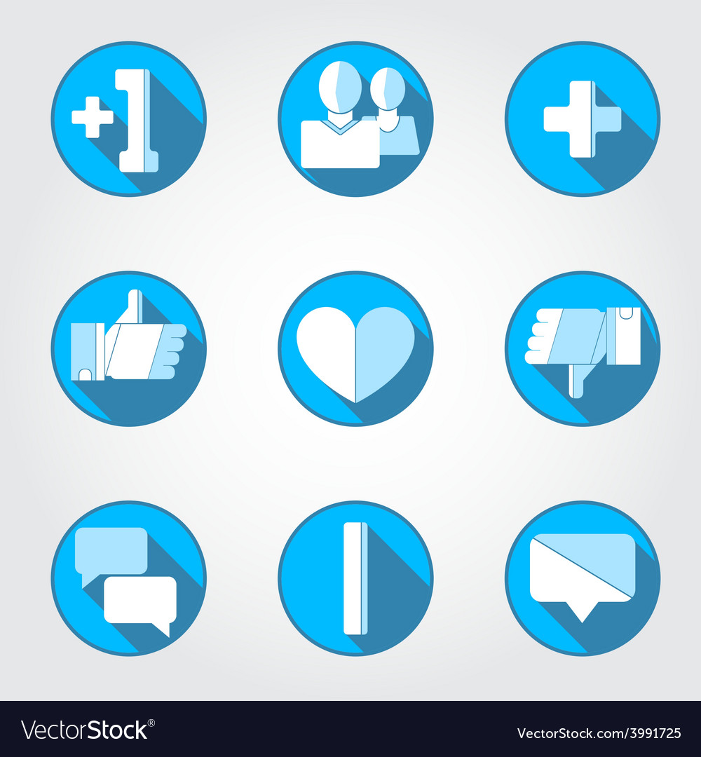 Social net icons set vector | Price: 1 Credit (USD $1)