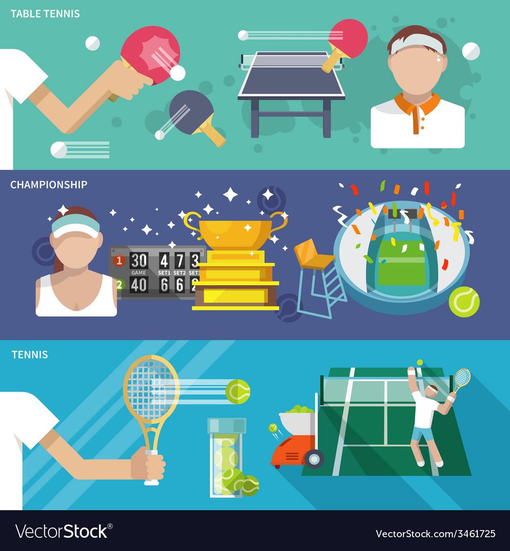 Tennis banner set vector | Price: 1 Credit (USD $1)