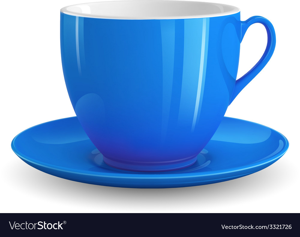 Blue cup vector | Price: 3 Credit (USD $3)