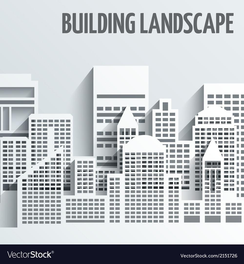 Building landscape emblem vector | Price: 1 Credit (USD $1)