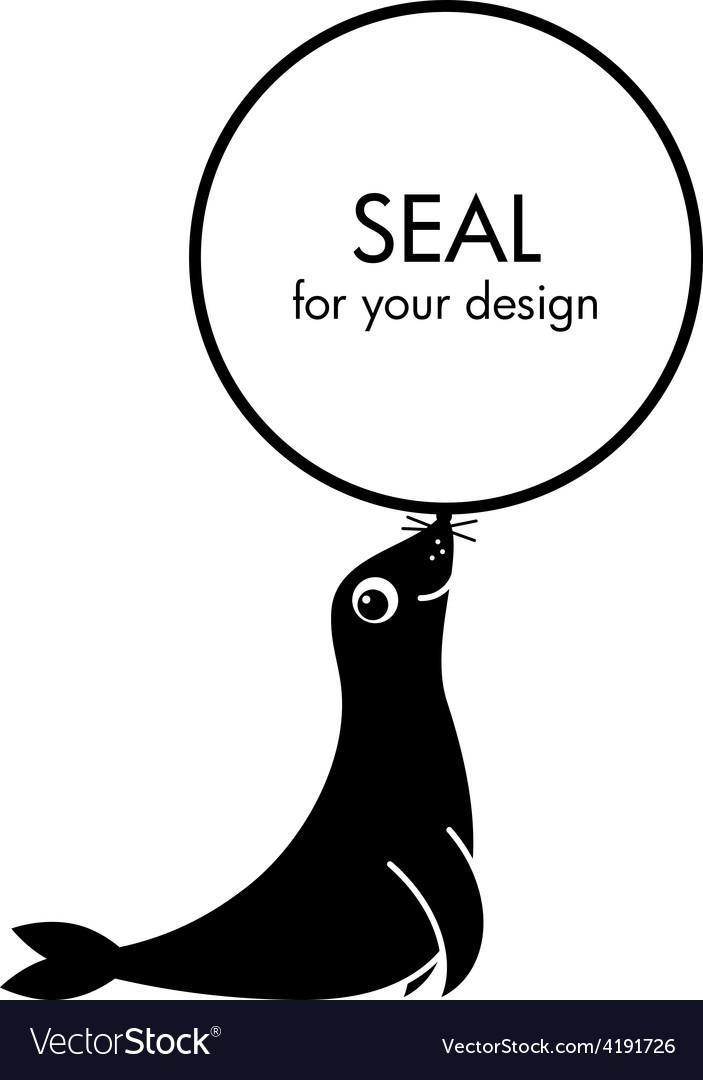 Cute cartoon seal vector | Price: 1 Credit (USD $1)