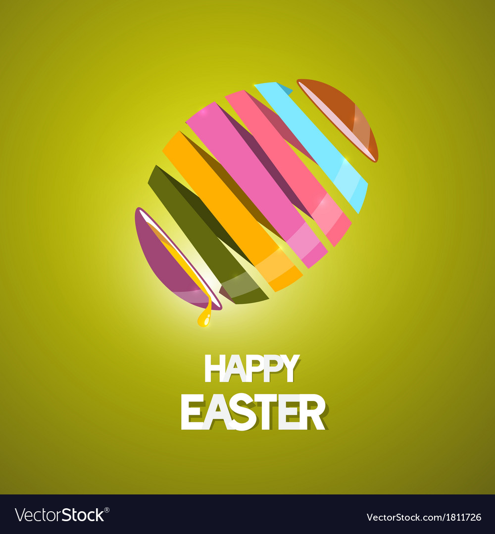 Easter background with 3d abstract egg vector | Price: 1 Credit (USD $1)