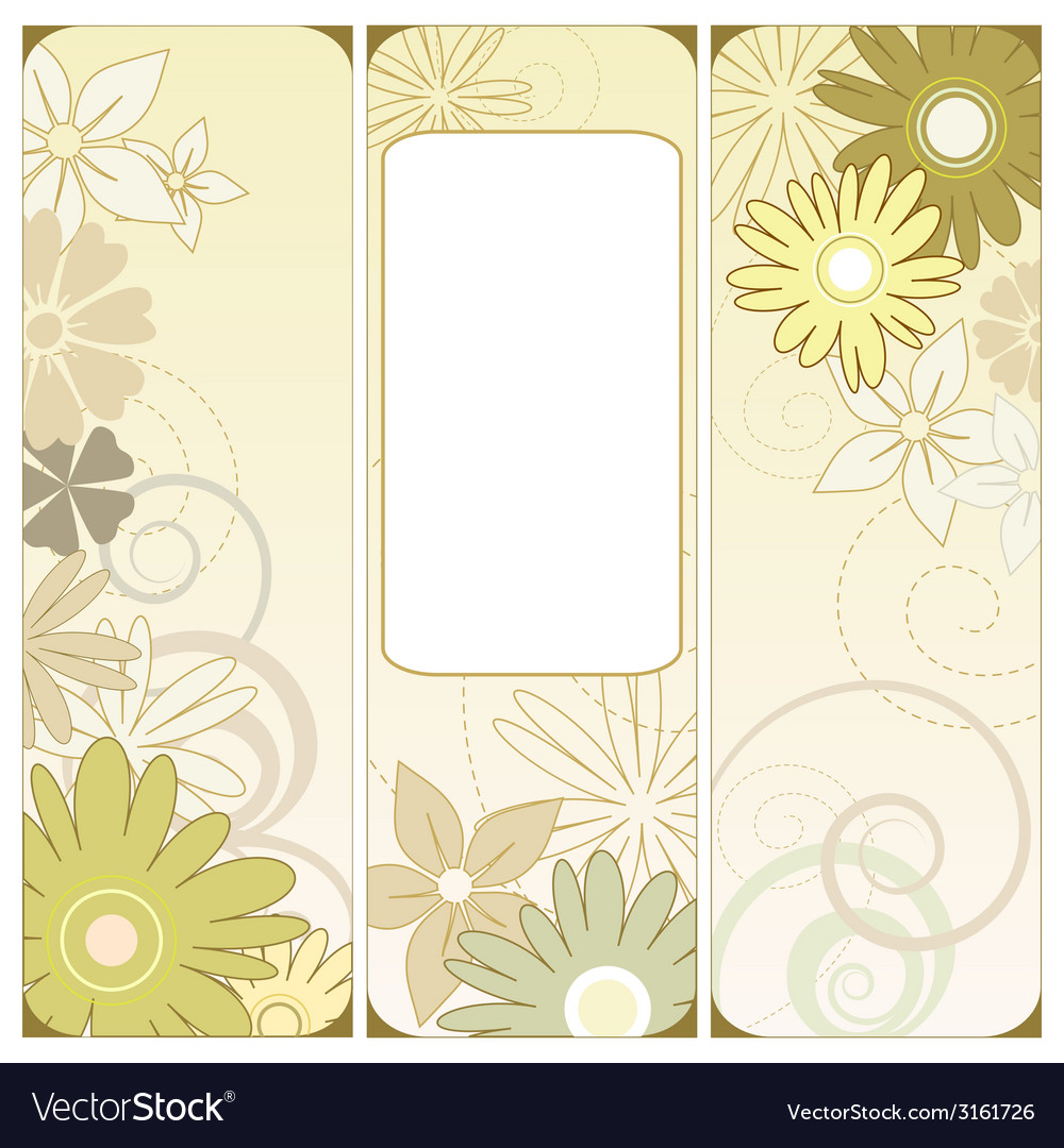 Floral triptych vector | Price: 1 Credit (USD $1)