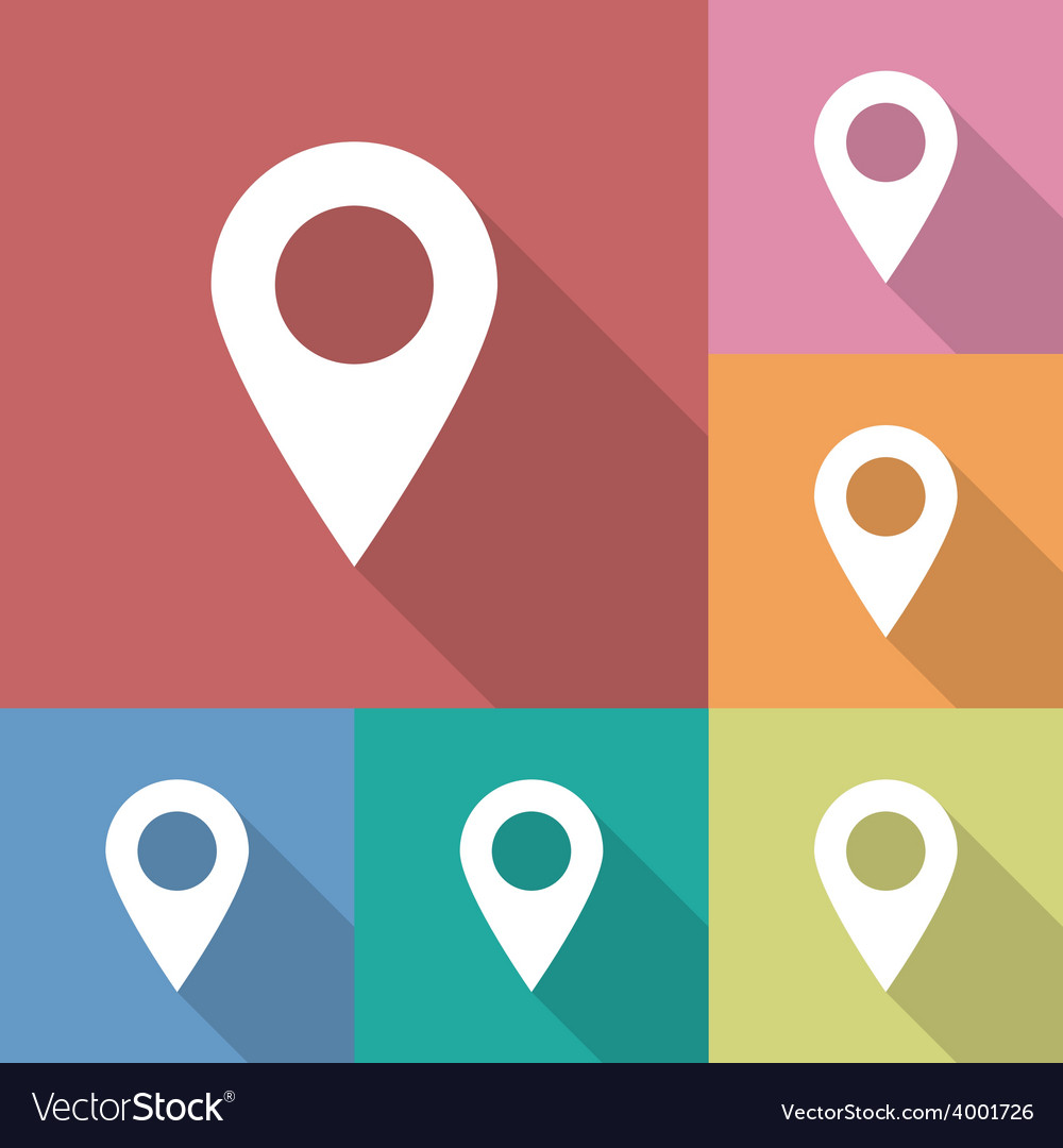 Icon of map pointer vector | Price: 1 Credit (USD $1)