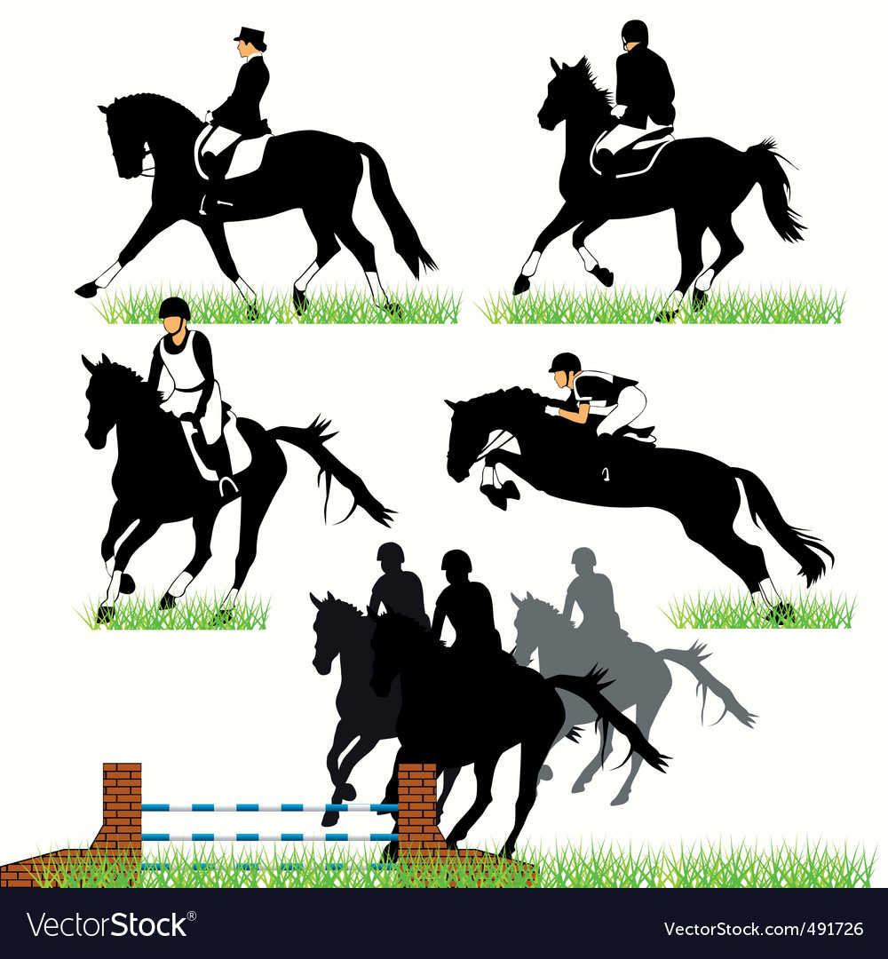 Jockeys set02 vector | Price: 1 Credit (USD $1)