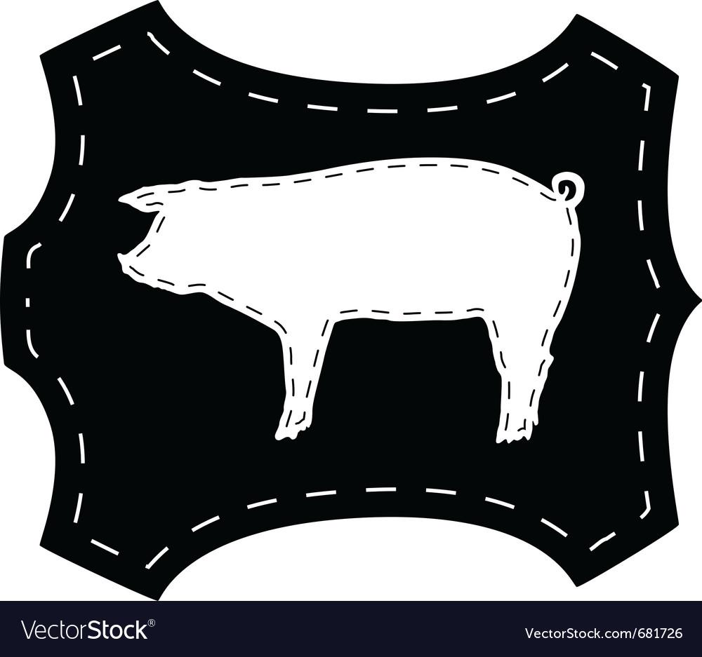 Pigskin silhouette vector | Price: 1 Credit (USD $1)