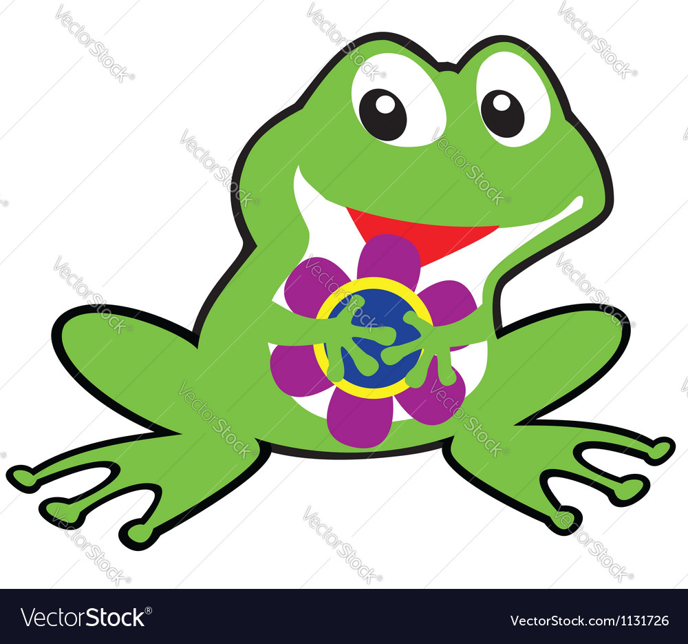 Simple childish frog vector | Price: 1 Credit (USD $1)