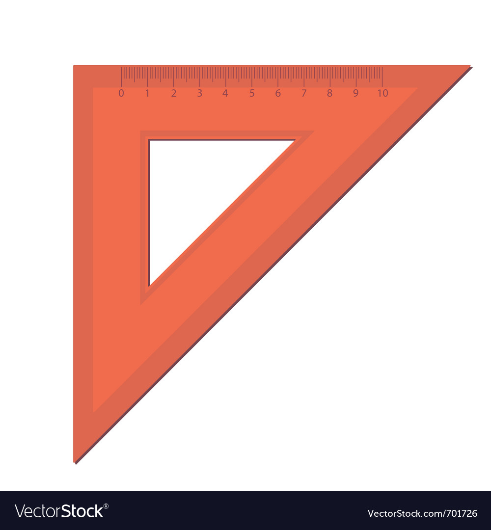 Triangle ruler vector | Price: 1 Credit (USD $1)