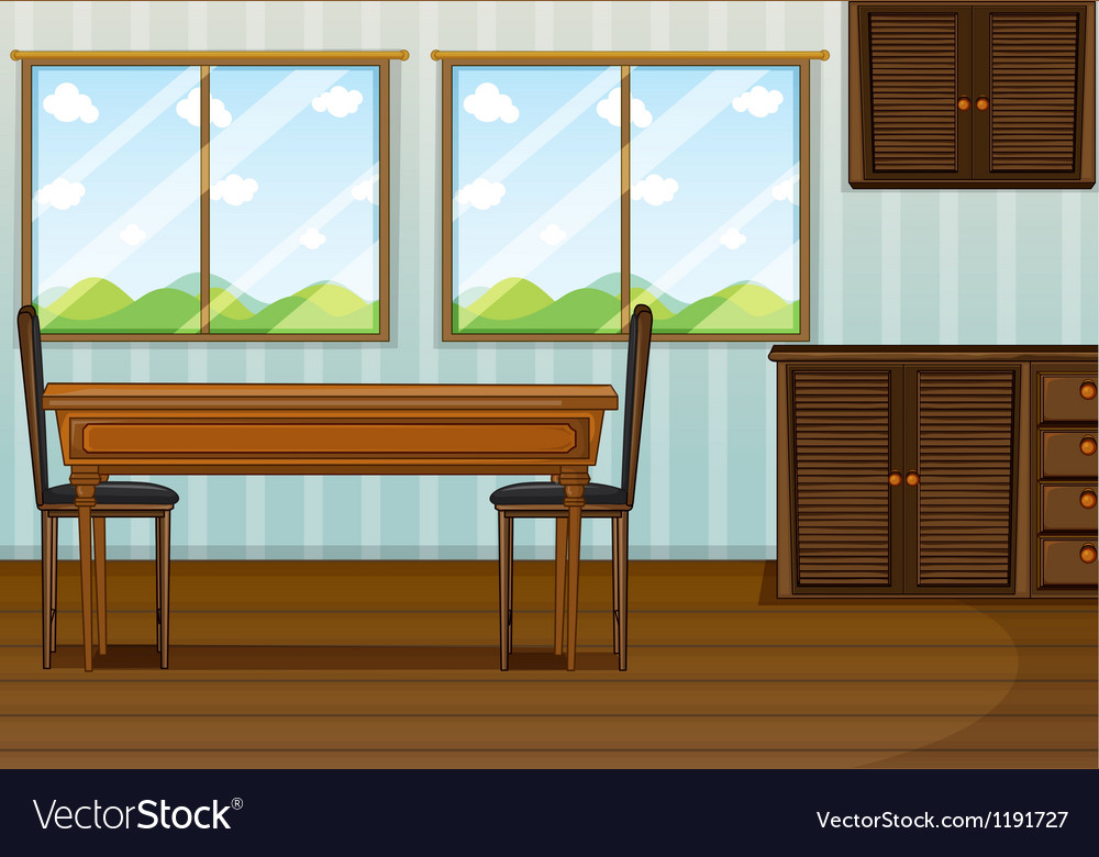 A clean dining room vector | Price: 1 Credit (USD $1)