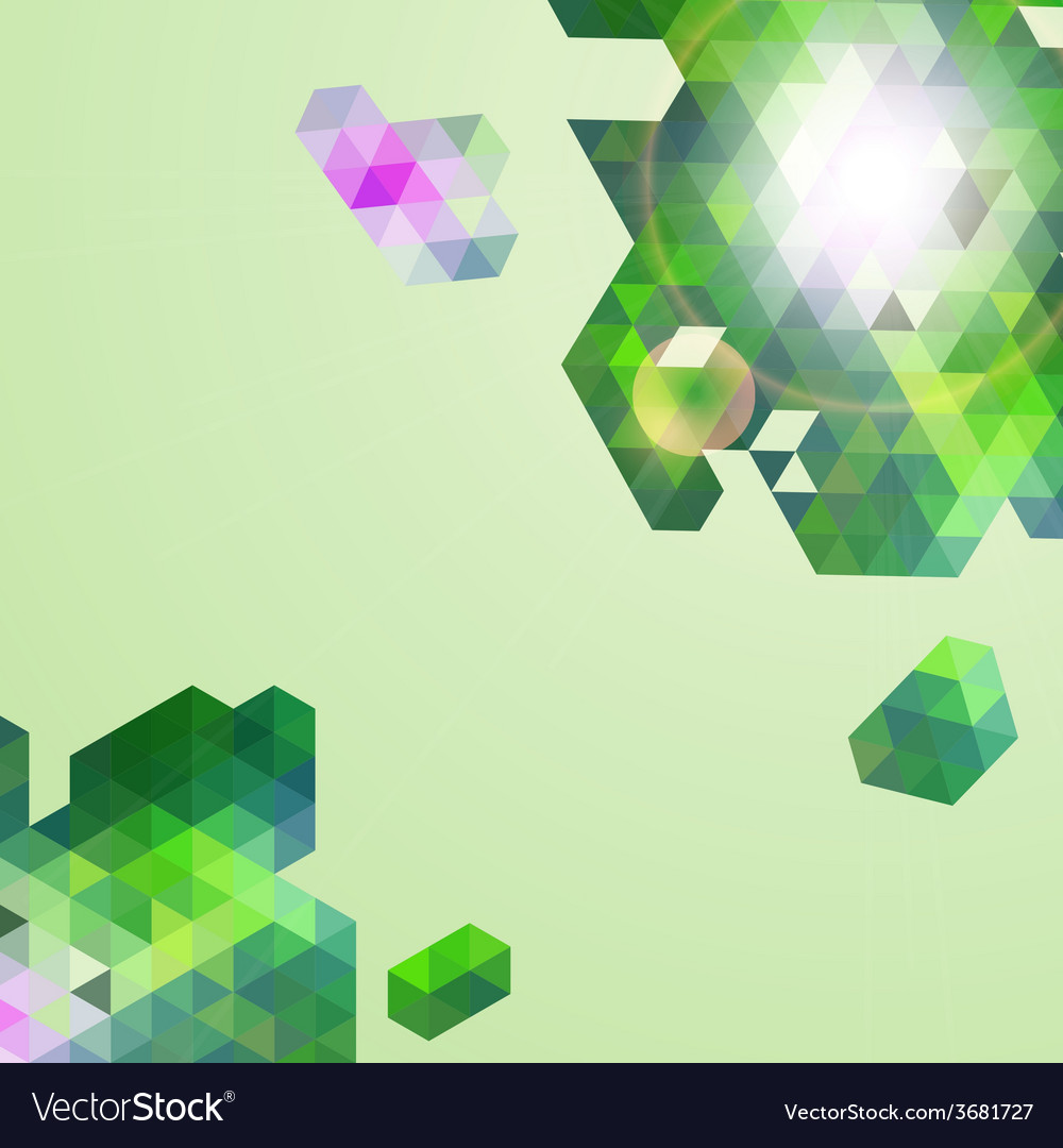 Abstract green geometric background vector | Price: 1 Credit (USD $1)