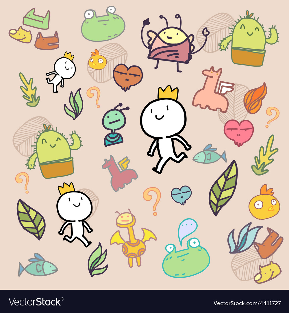 Amazing doodle pattern vector | Price: 1 Credit (USD $1)