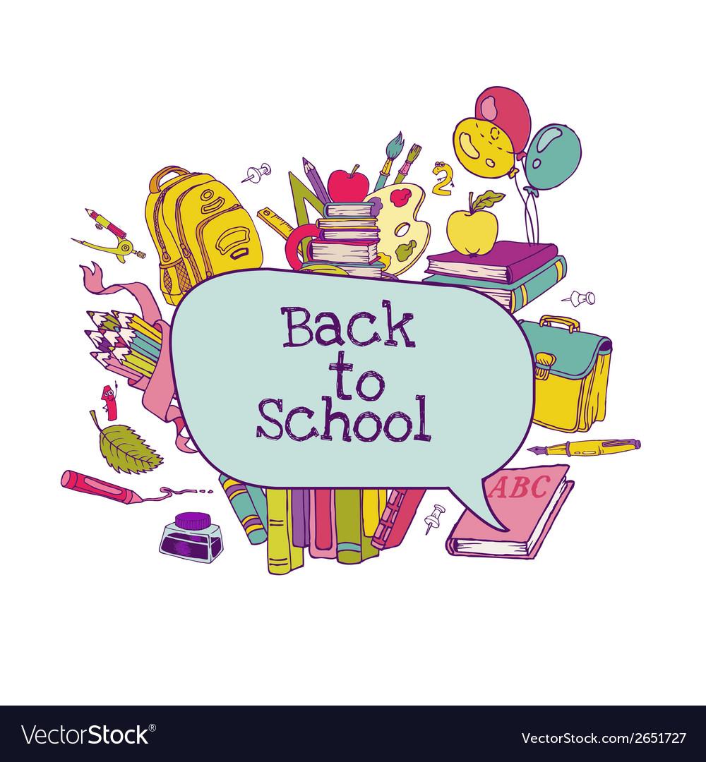 Back to school set vector | Price: 1 Credit (USD $1)