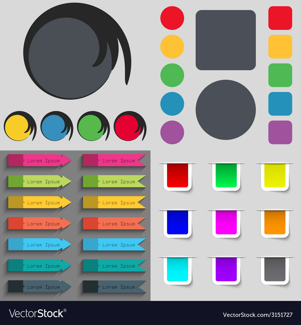 Big set of different colored buttons trendy modern vector   Price: 1 Credit (USD $1)