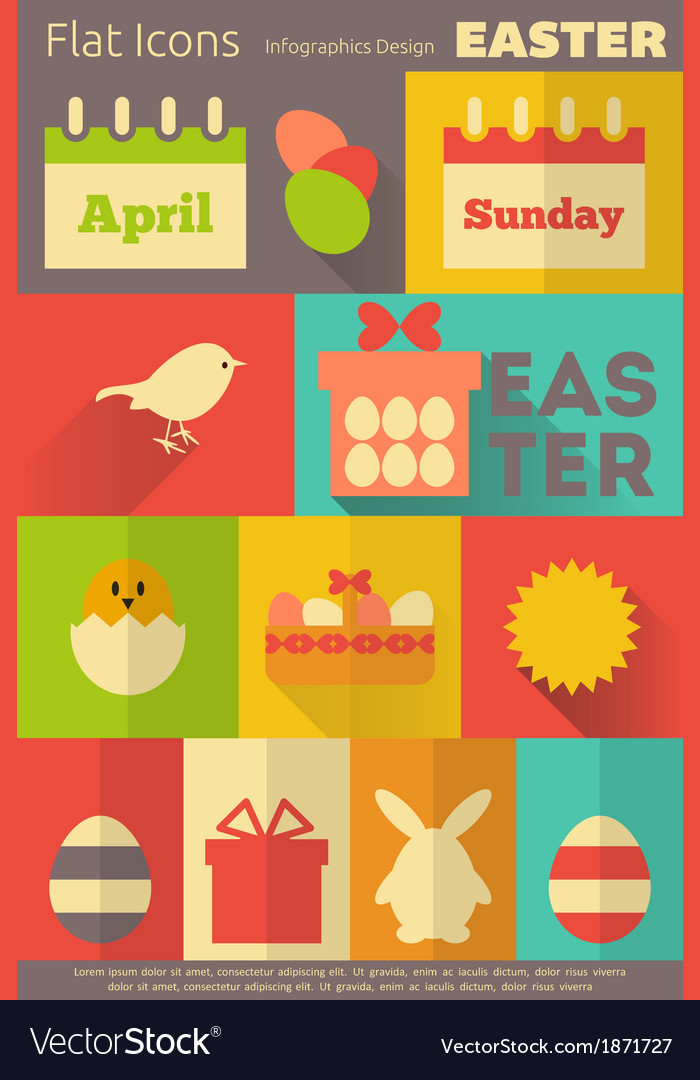 Easter retro labels vector | Price: 1 Credit (USD $1)