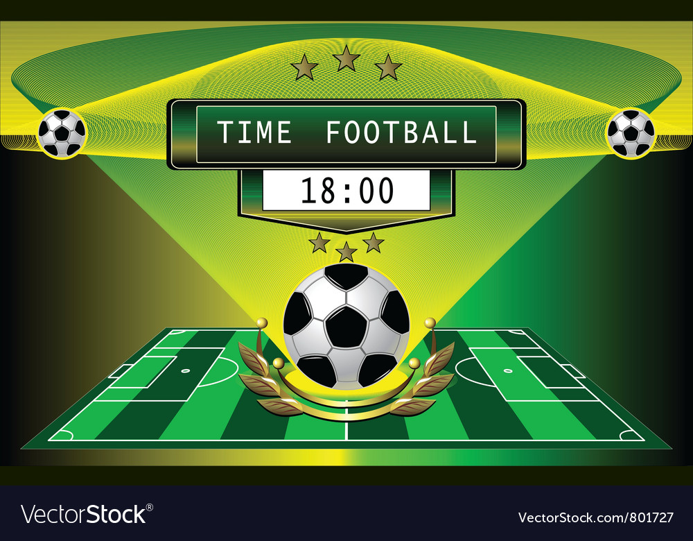 Football timer vector | Price: 1 Credit (USD $1)