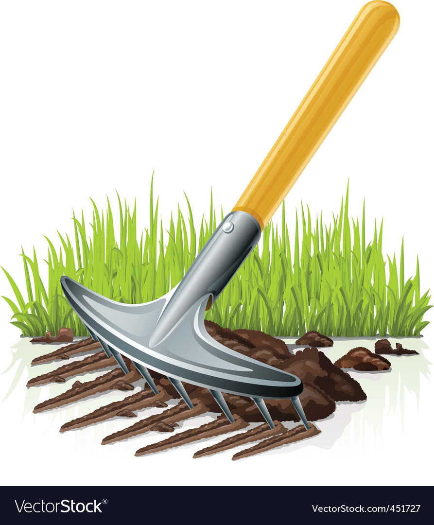 Garden rake vector | Price: 1 Credit (USD $1)