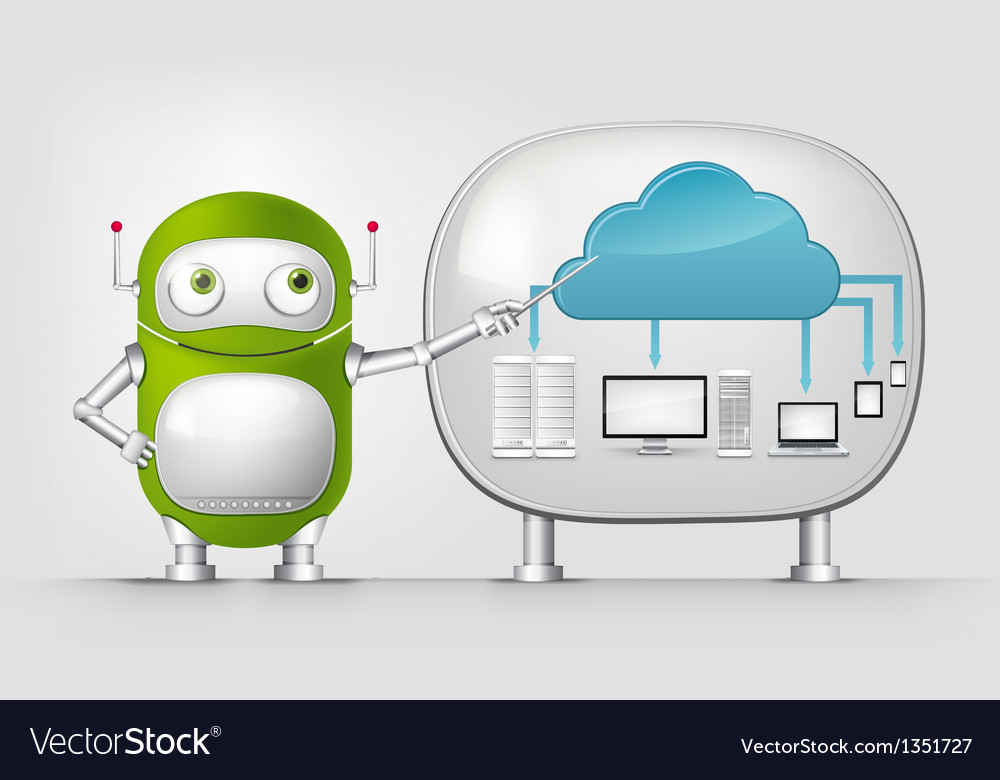 Green robot vector | Price: 3 Credit (USD $3)
