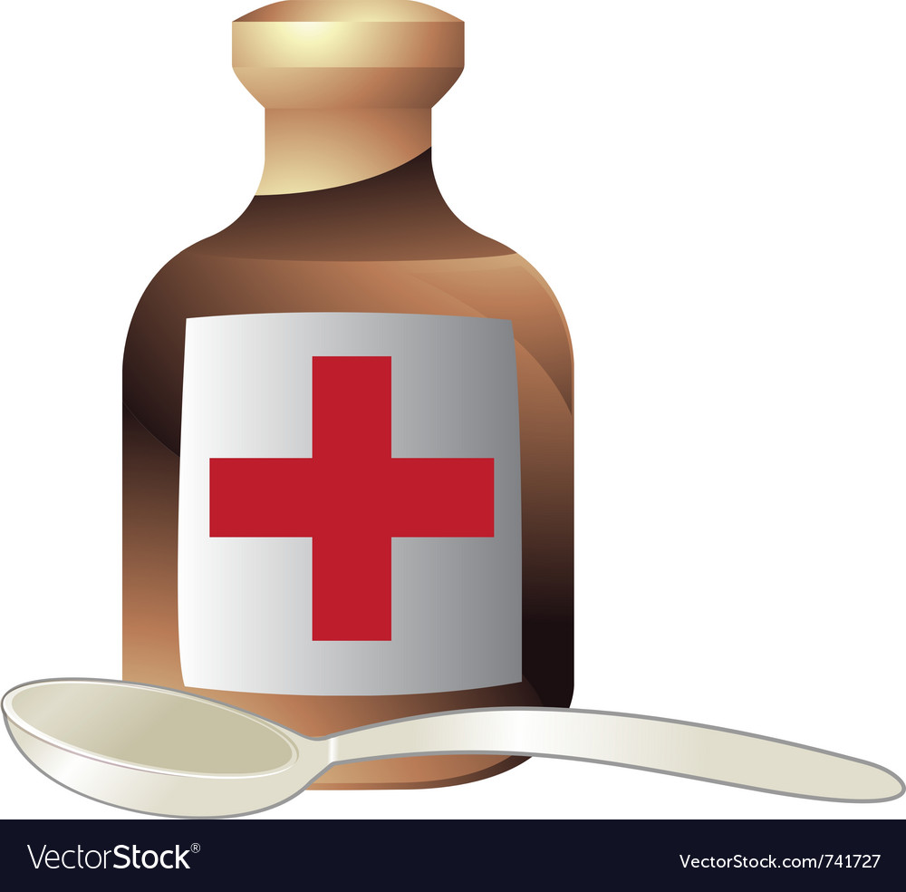 Medicine and a spoon vector | Price: 1 Credit (USD $1)