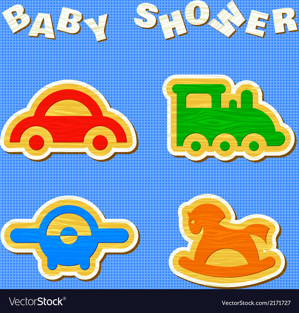 Set of wooden toys vector | Price: 1 Credit (USD $1)