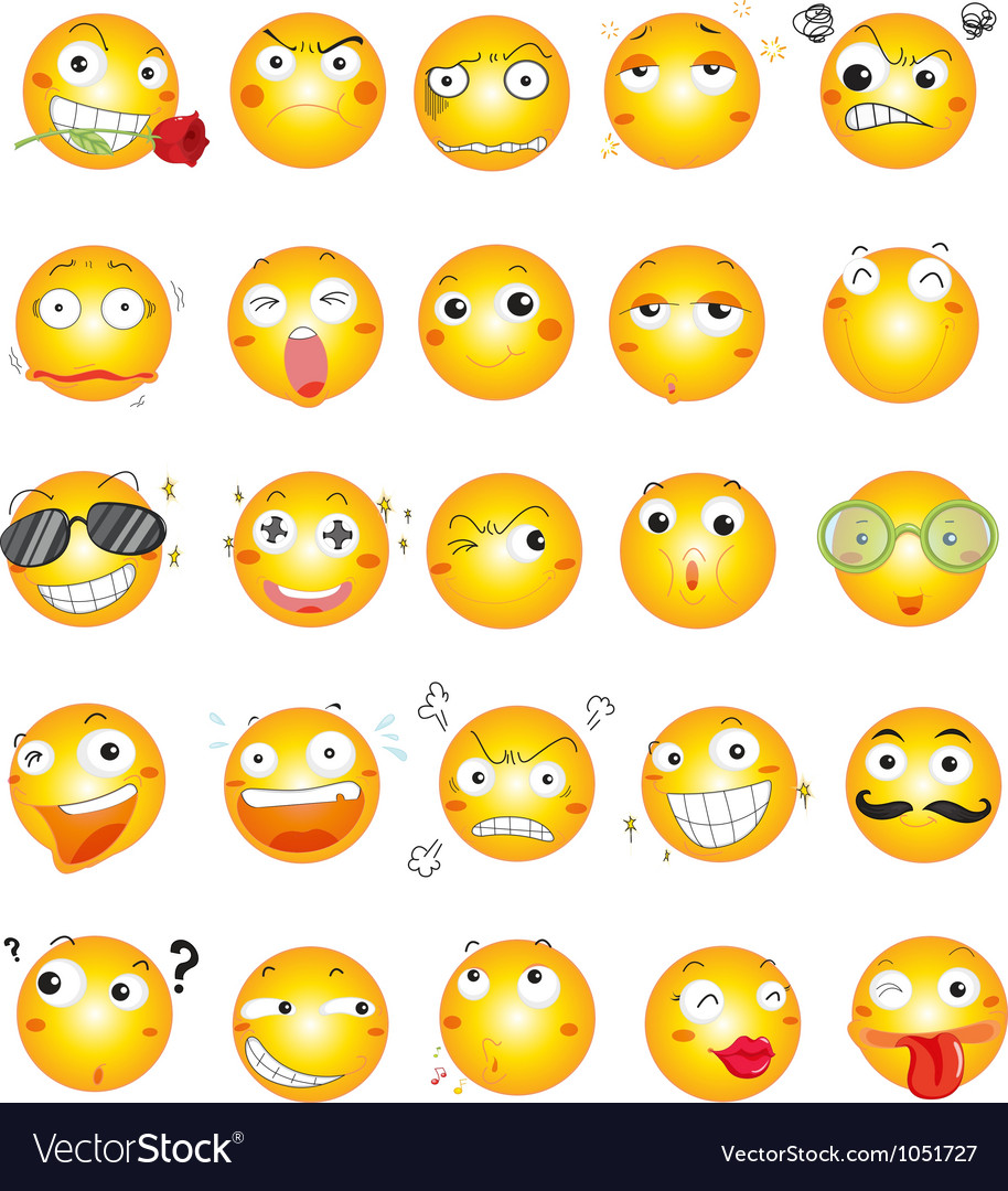 Smile face icons vector | Price: 1 Credit (USD $1)