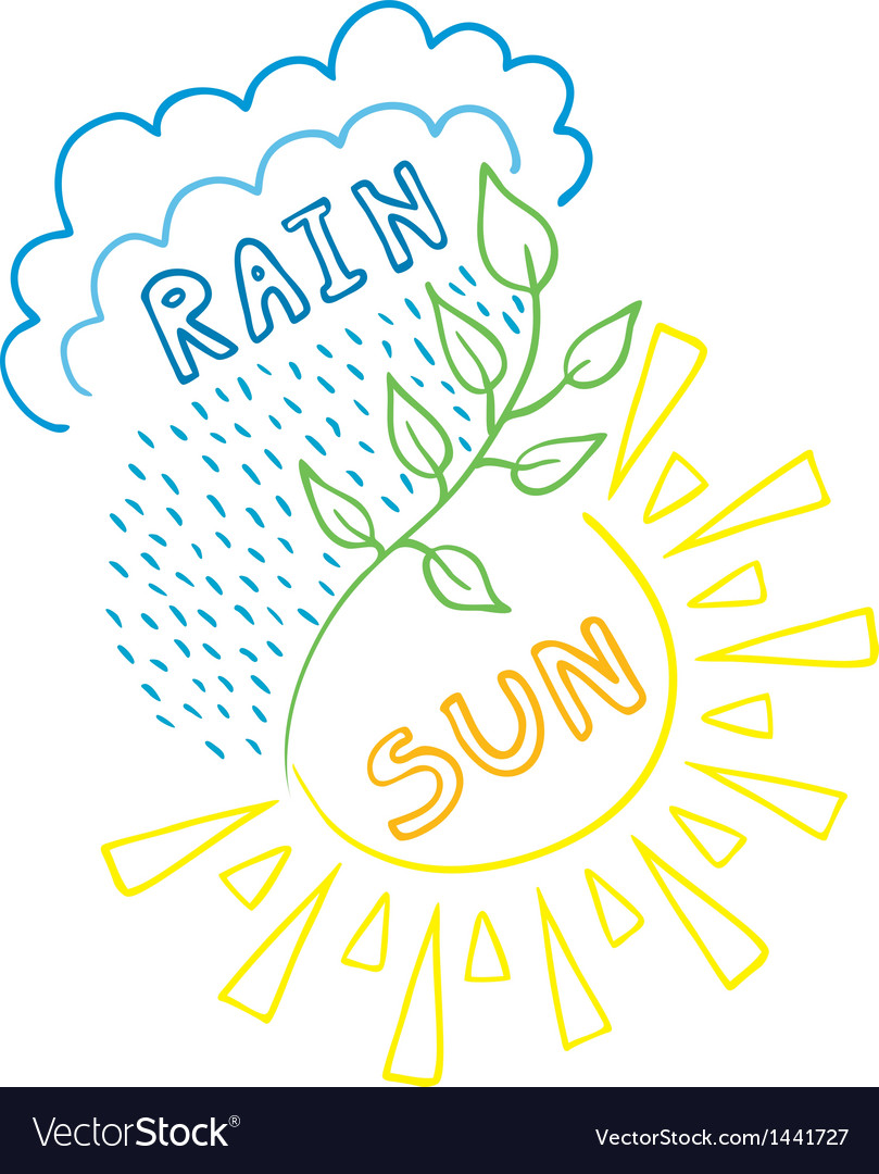 Sun-rain background vector | Price: 1 Credit (USD $1)