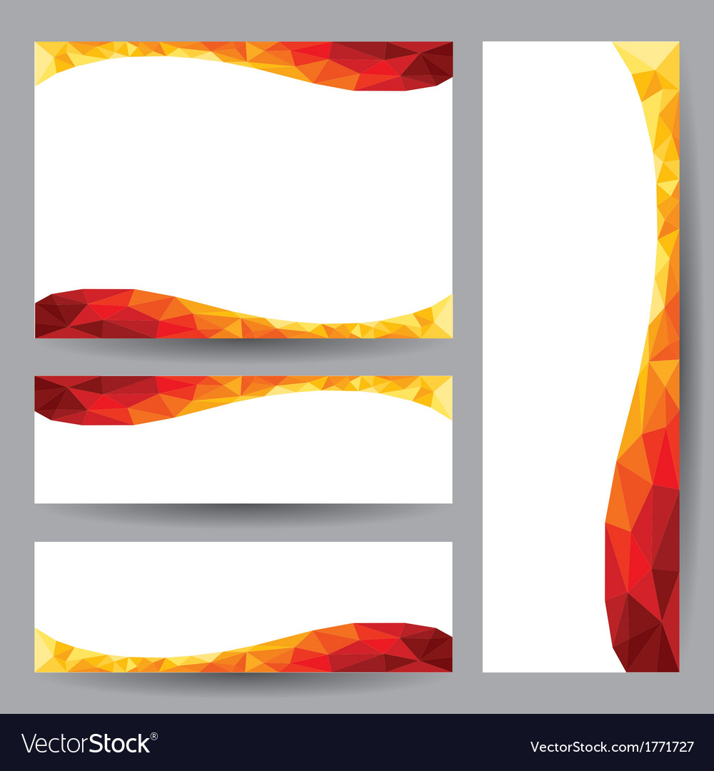 Template card orange element design vector | Price: 1 Credit (USD $1)