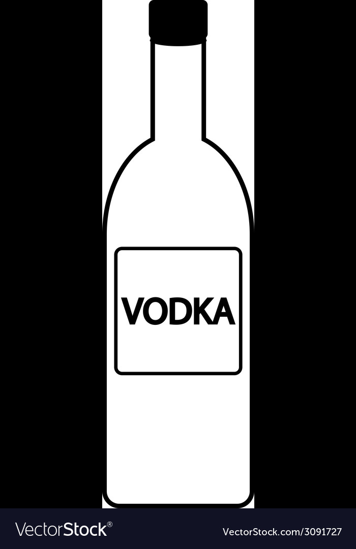 Vodka bottle icon vector | Price: 1 Credit (USD $1)