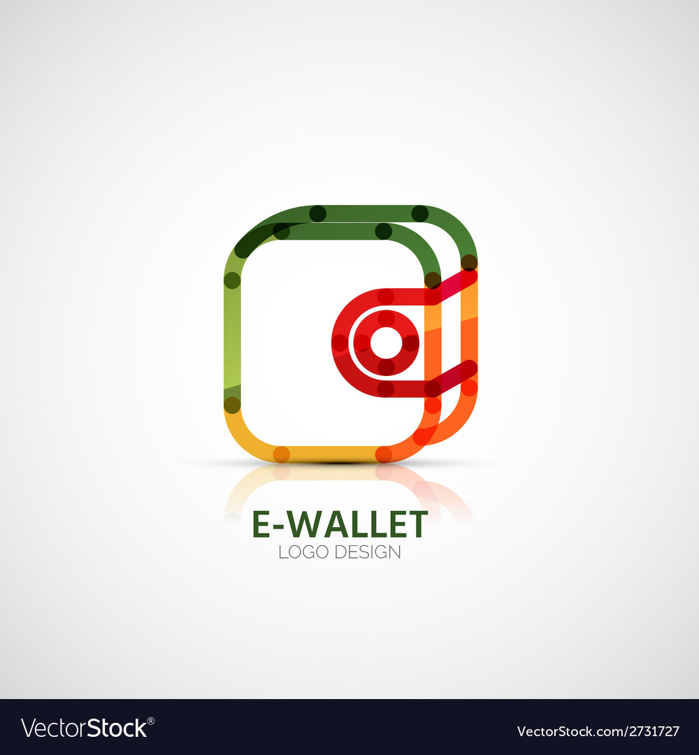 Wallet company logo business concept vector | Price: 1 Credit (USD $1)