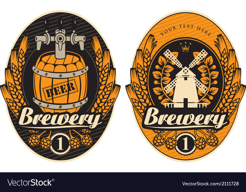 Brewery label 02 vector | Price: 1 Credit (USD $1)