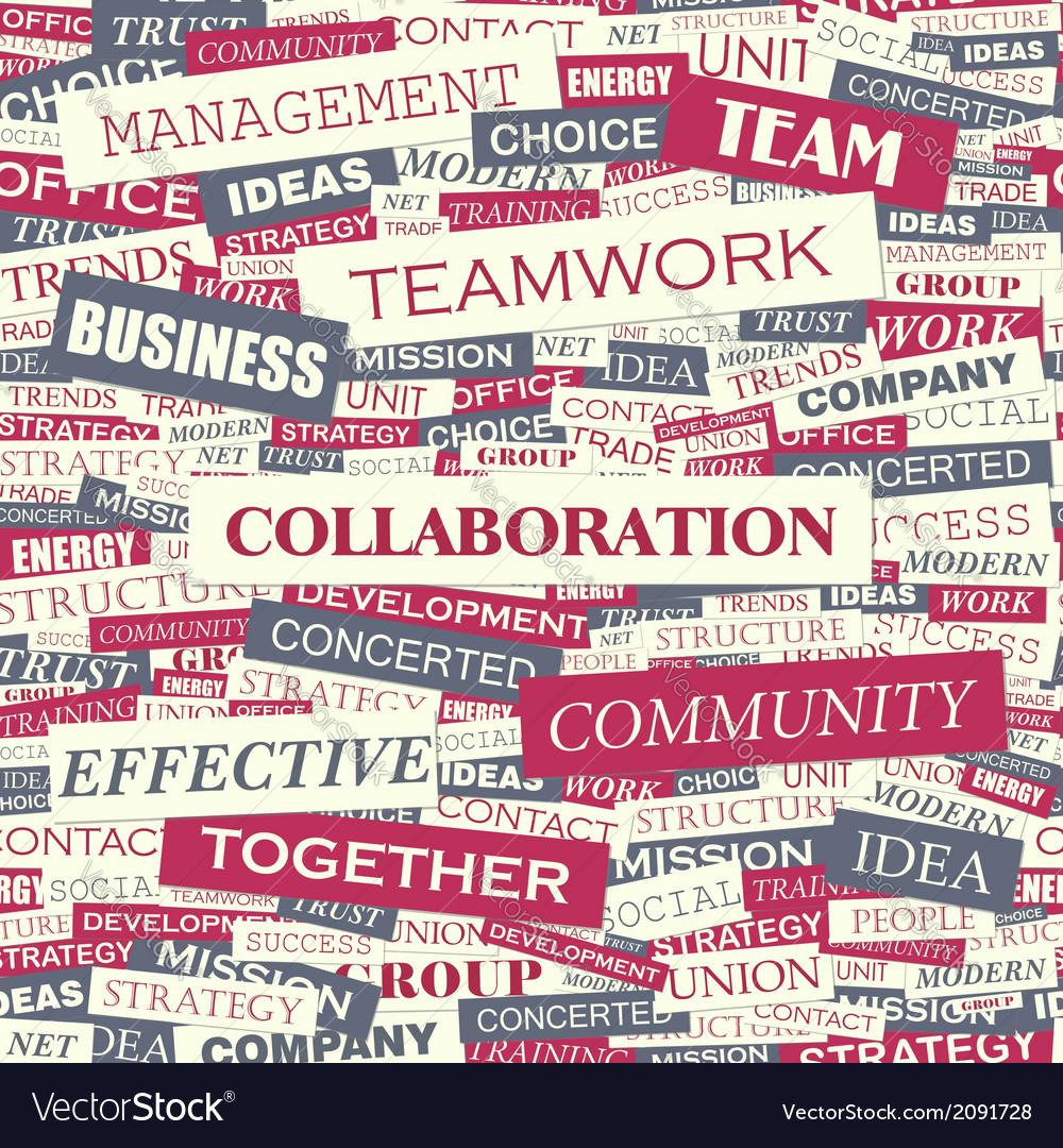 Collaboration vector | Price: 1 Credit (USD $1)