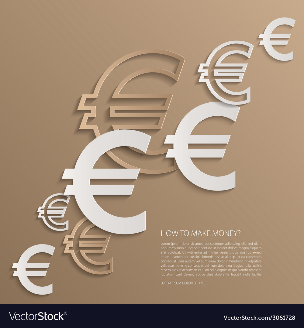 Euro signs background vector | Price: 1 Credit (USD $1)
