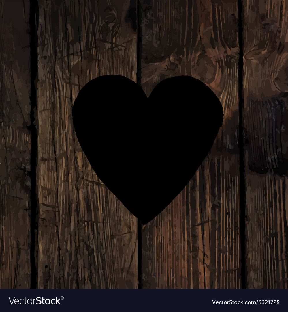 Heart sign on wooden board vector | Price: 1 Credit (USD $1)