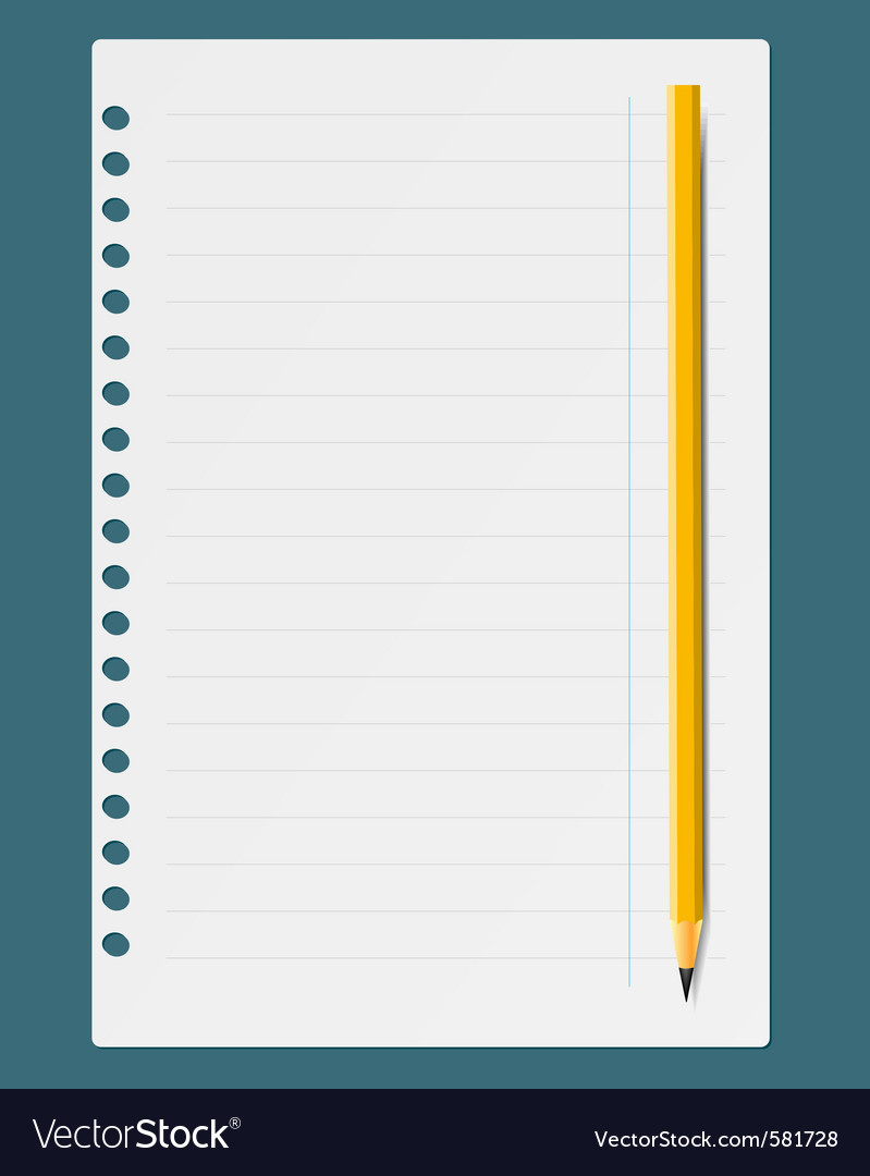 Notepad and pen vector | Price: 1 Credit (USD $1)