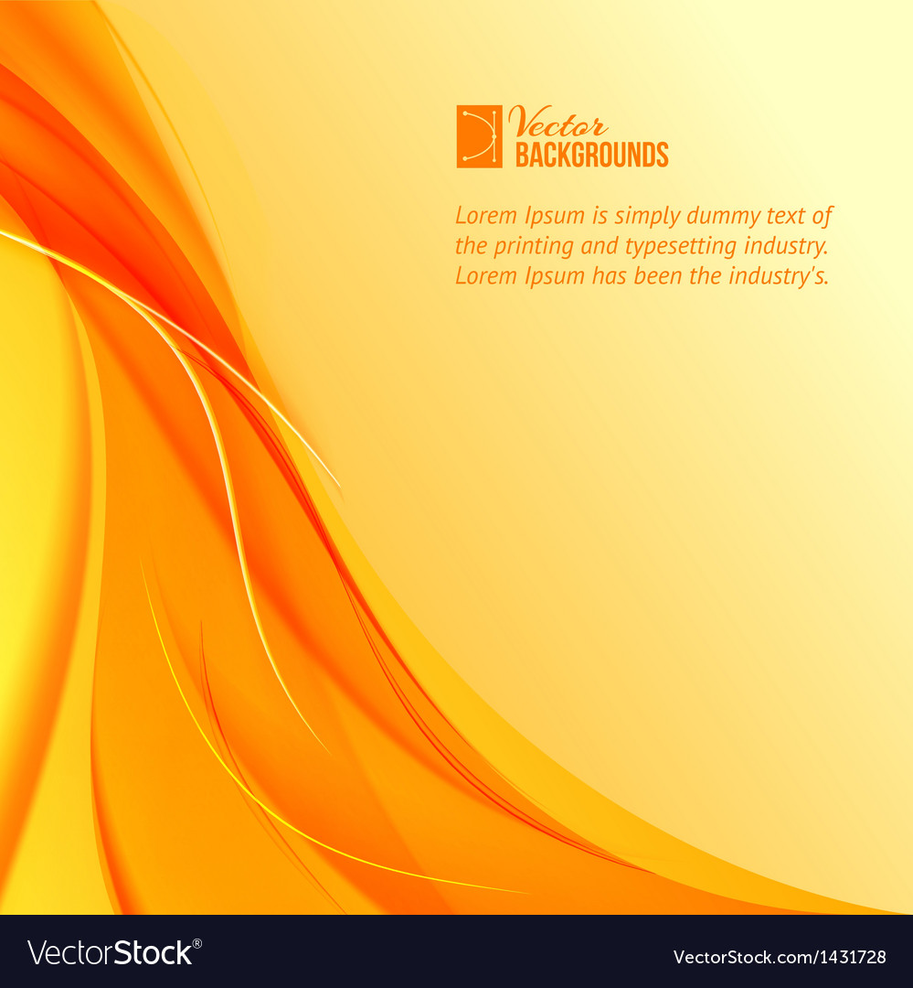 Orange smoke on yellow background vector | Price: 1 Credit (USD $1)