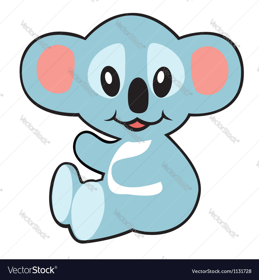 Simple childish koala vector | Price: 1 Credit (USD $1)