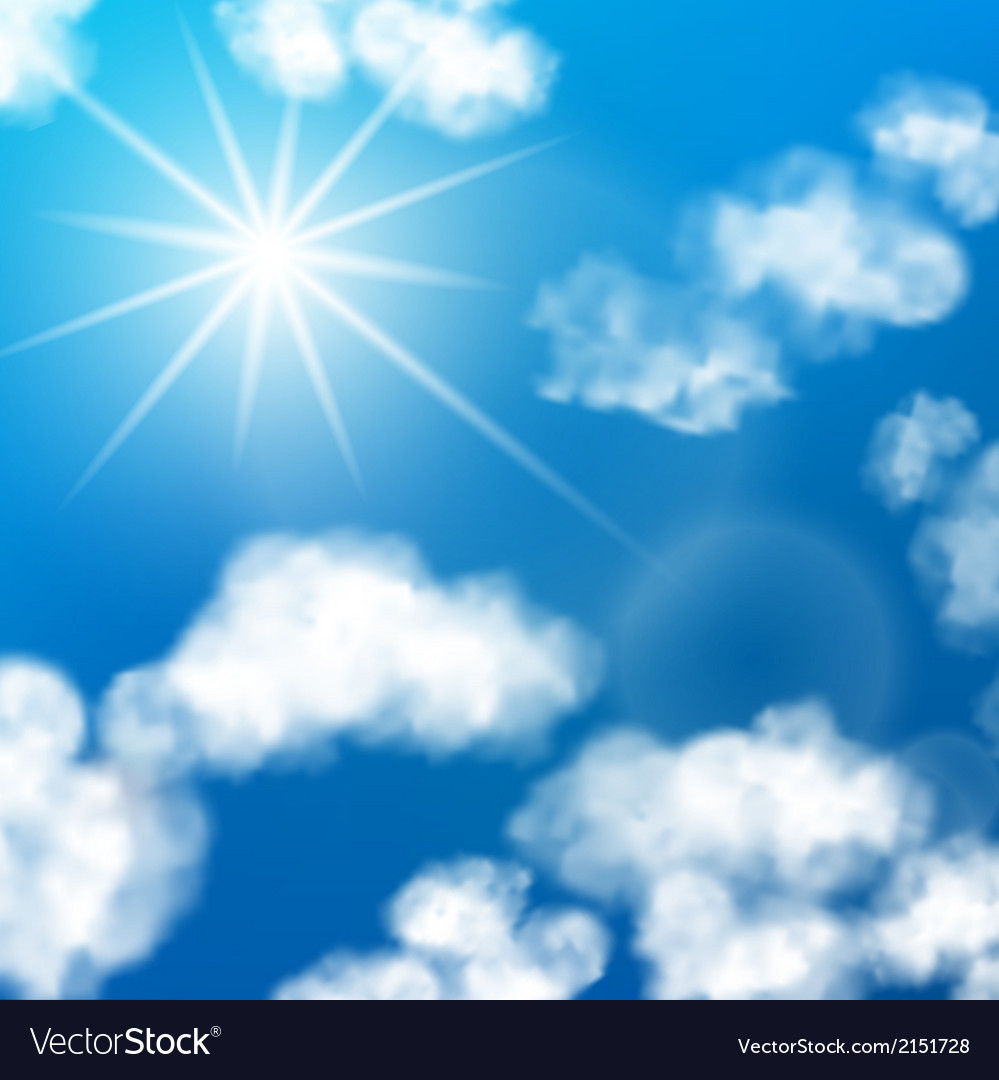 Sky clouds background vector | Price: 1 Credit (USD $1)