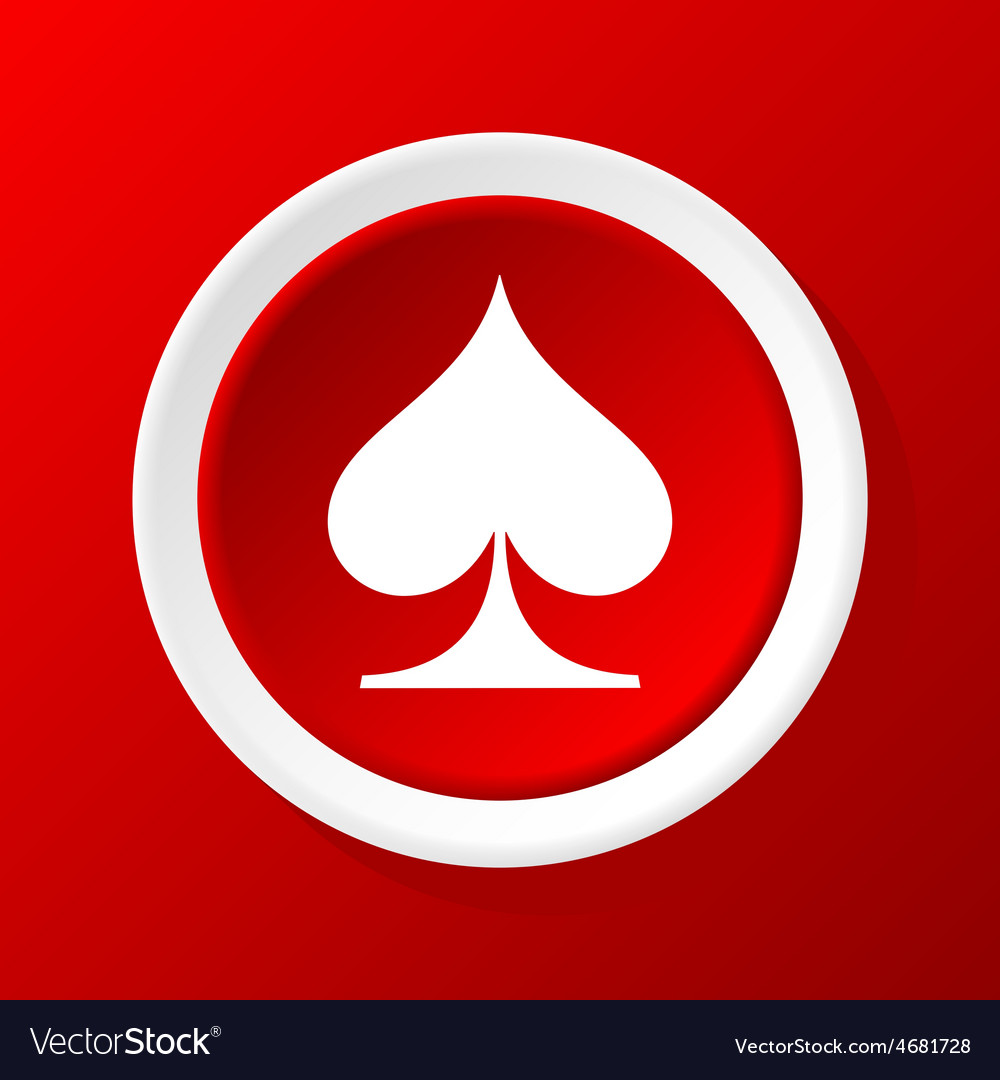 Spades icon on red vector | Price: 1 Credit (USD $1)