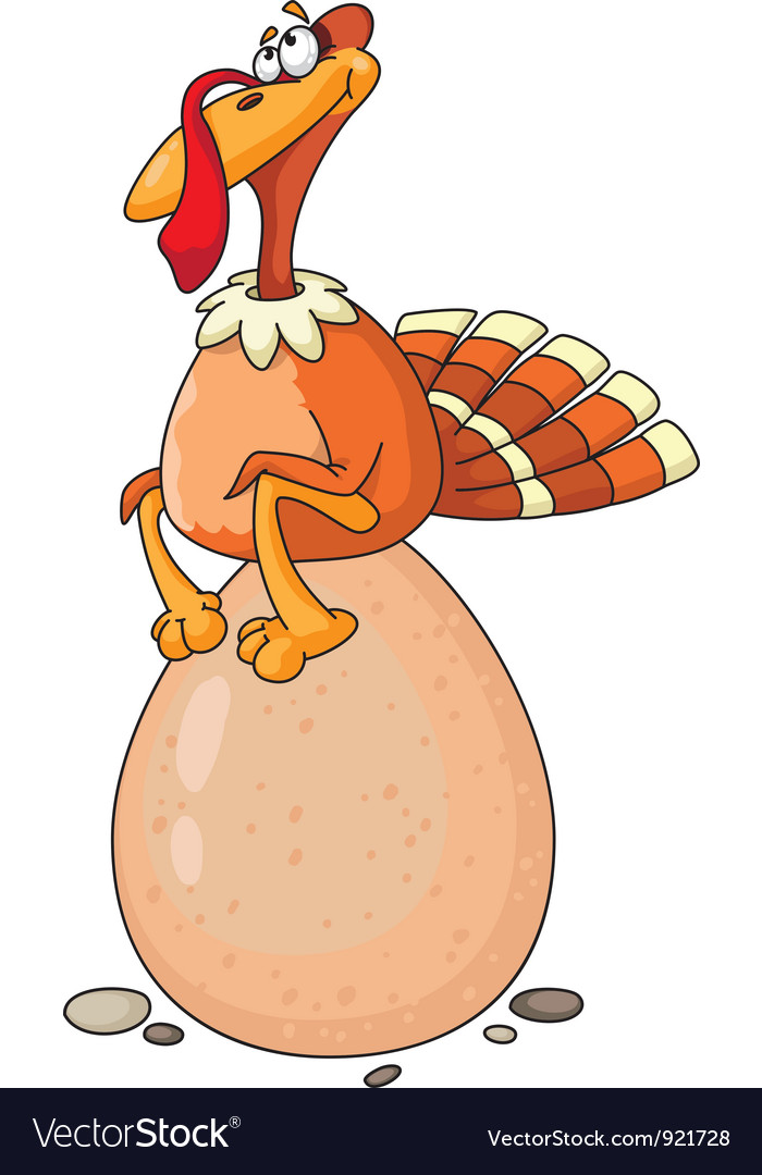 Turkey and egg vector | Price: 1 Credit (USD $1)