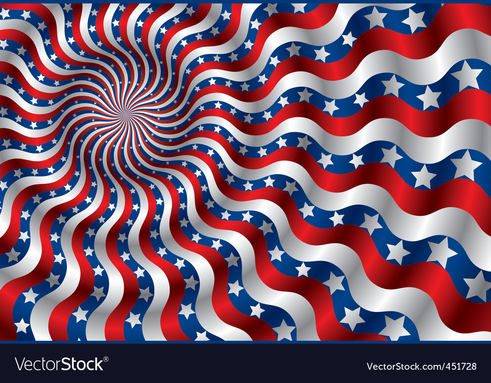 Usa flag abstraction vector | Price: 1 Credit (USD $1)