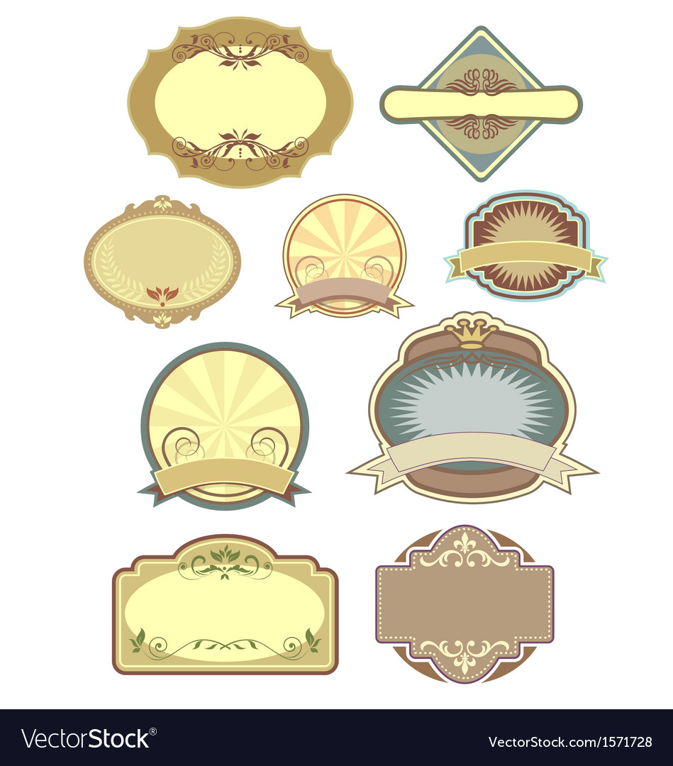 Vintage labels collection 3 vector | Price: 1 Credit (USD $1)