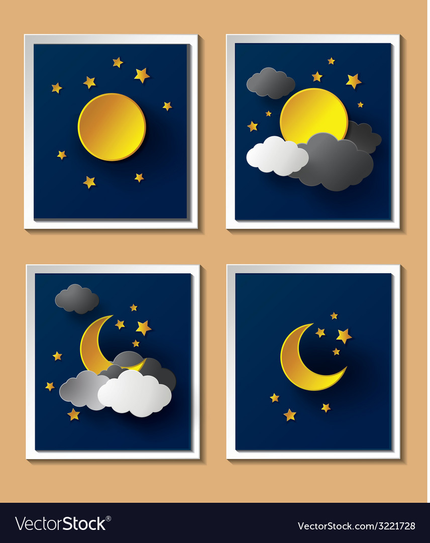 Weather night vector | Price: 1 Credit (USD $1)