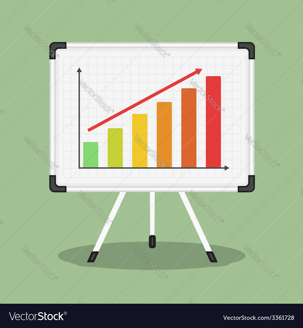 Whiteboard with graph vector | Price: 1 Credit (USD $1)